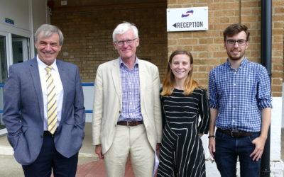 North Norfolk MP, Norman Lamb, Visits Scottow Enterprise Park