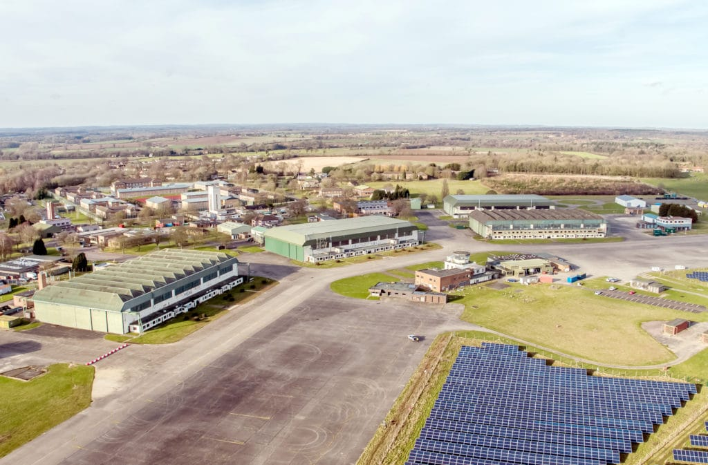 Scottow Enterprise Park by air